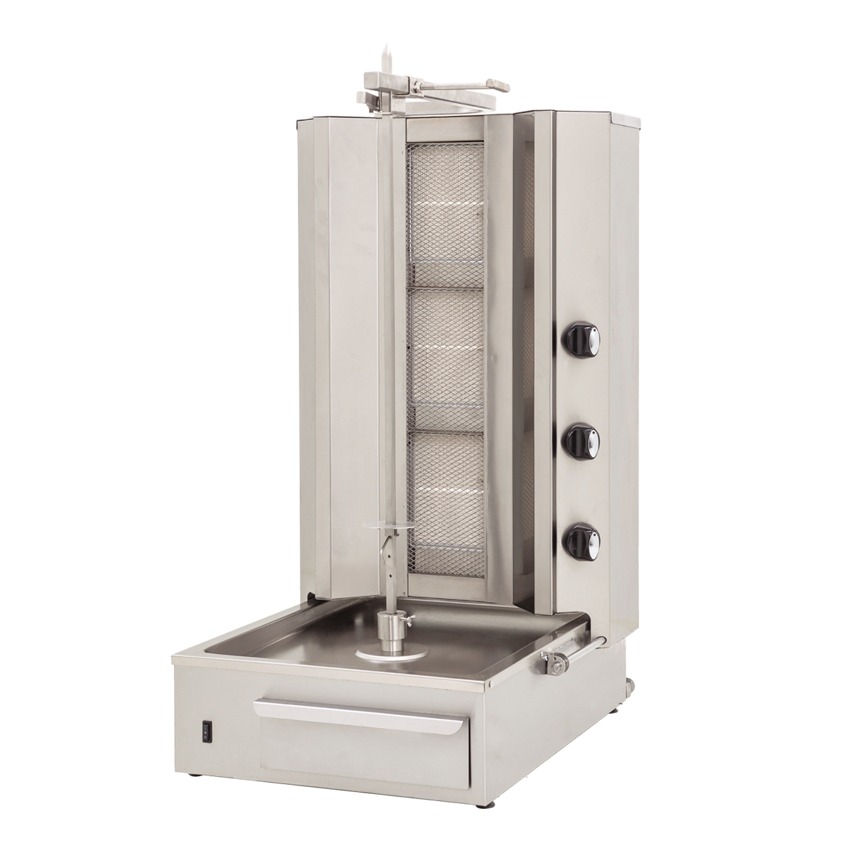 Doner Machine - Bottom Motor 3 Vertical Burner -Gas