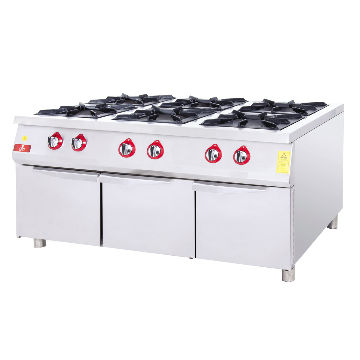 Range With Cabinet - 6 Burners - 120x90 - NG