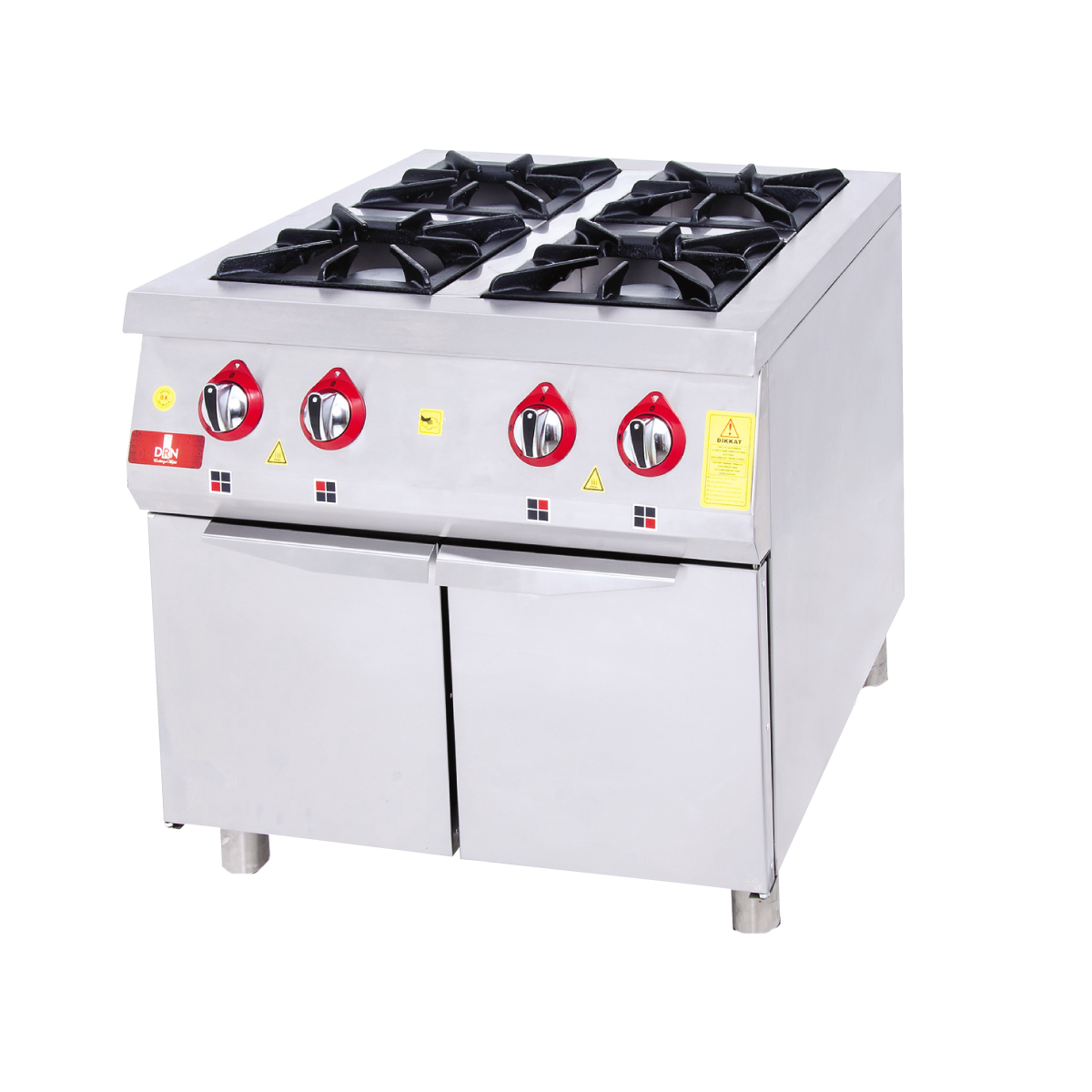 Range and Cabinet - 4 Burners - 80x80 - Gas