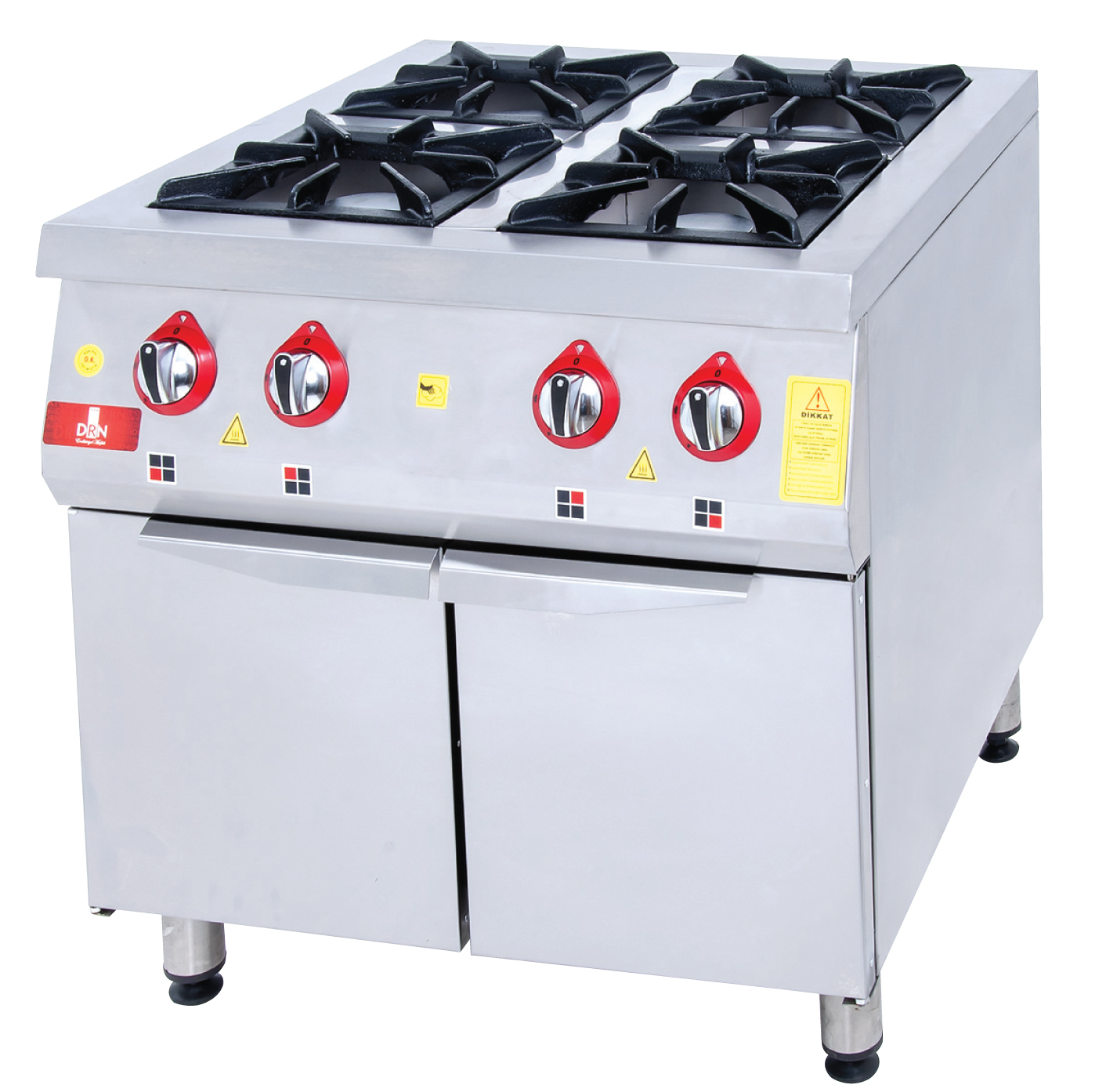Range and Cabinet - 4 Burners - 100x100 - Gas