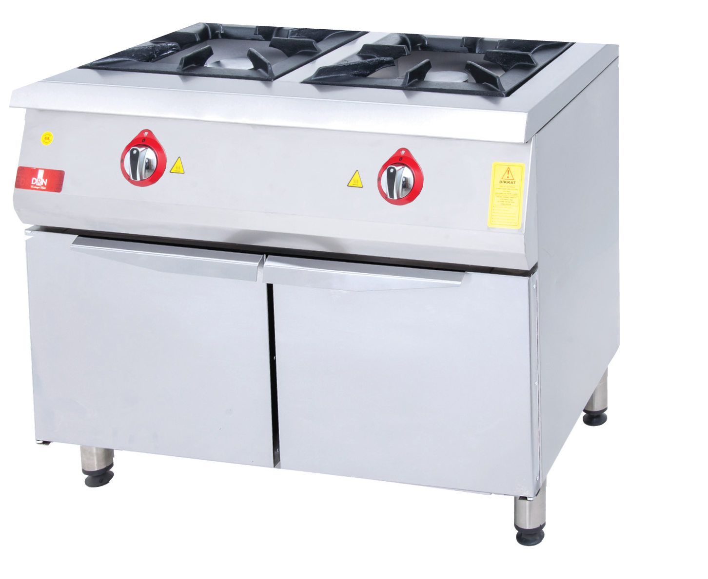 Range and Cabinet - 2 Burners - 100x60 - Gas