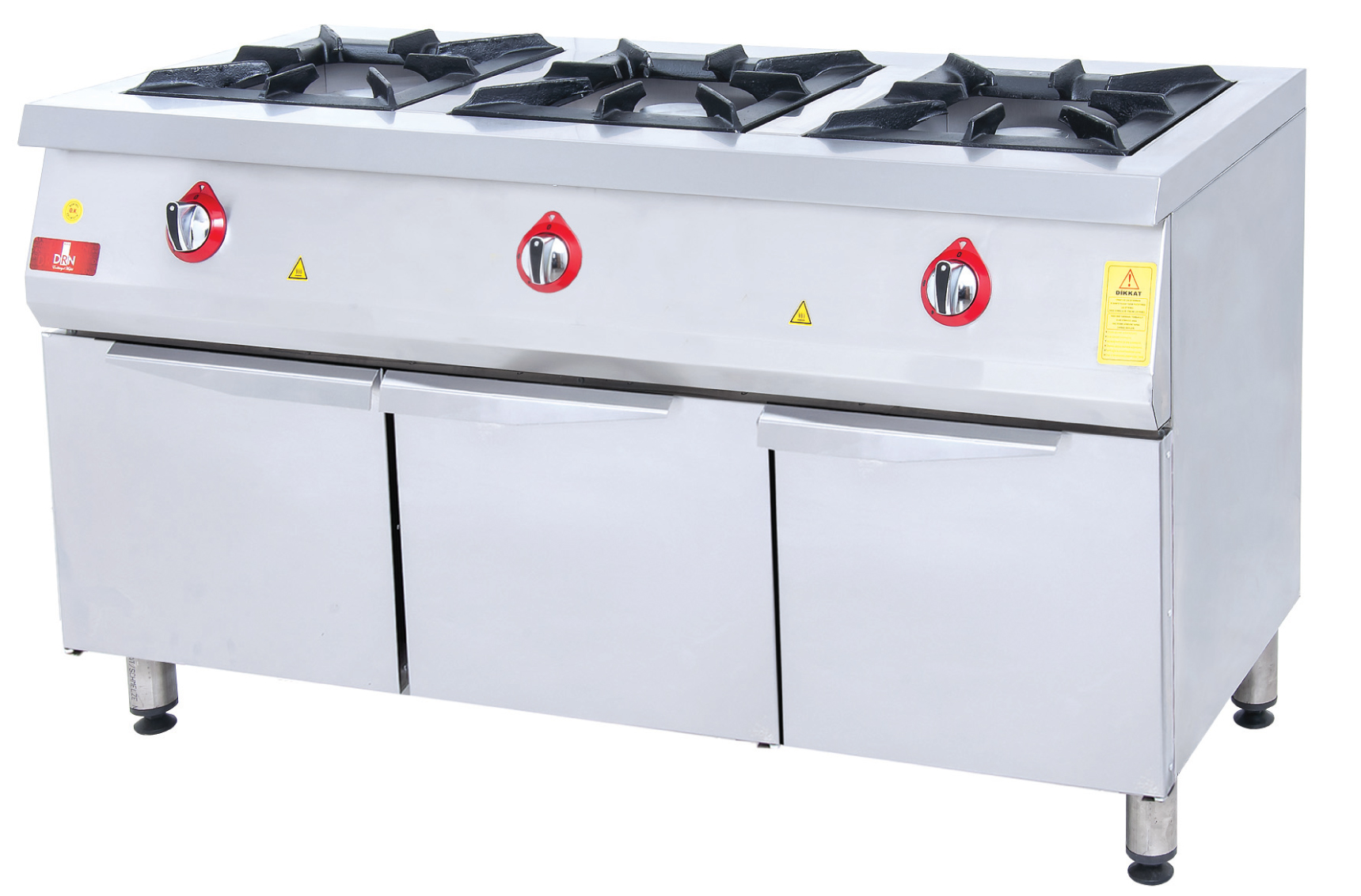 Range and Cabinet - 3 Burners - 150x60 - Gas