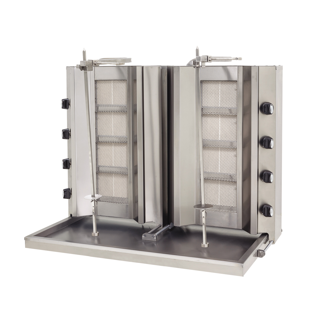 Doner Machine Double - Non Motor 8 Burner - Gas