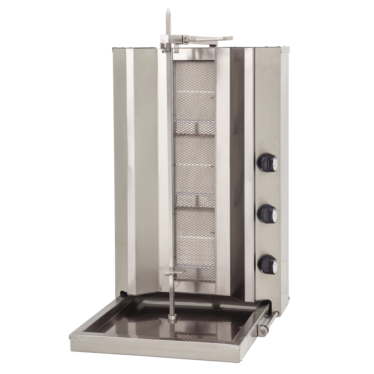 Doner Machine - Non Motor 3 Vertical Burner - Gas