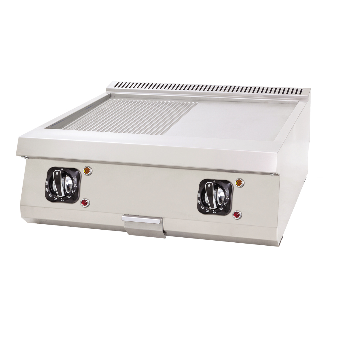 Electric Grill Flat+Grooved - 80x60