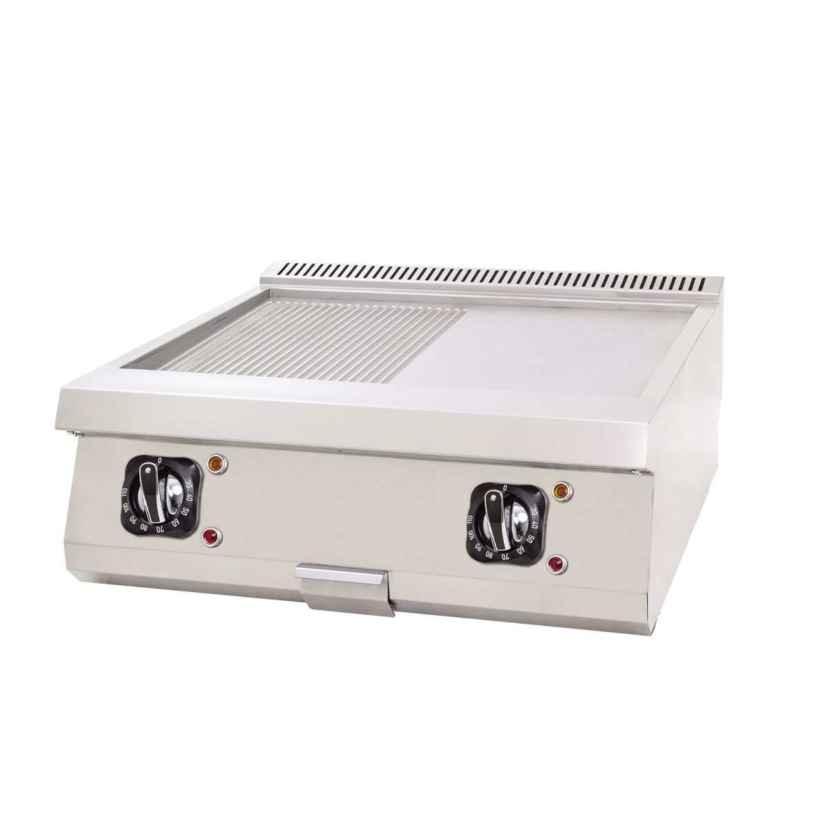 Electric Grill Flat+Grooved - 80x70