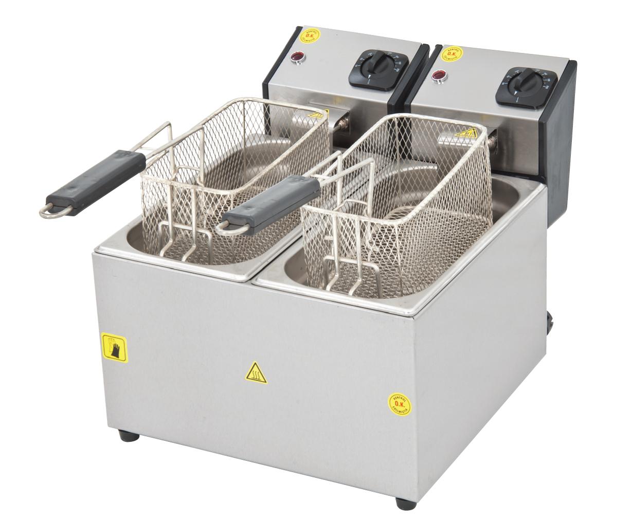 Fritöz Çiftli - 3+3lt - Elektrikli