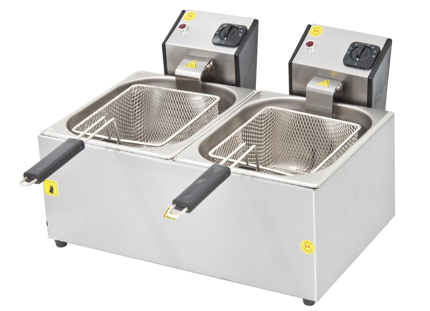 Fritöz Çiftli - 5+5lt - Elektrikli