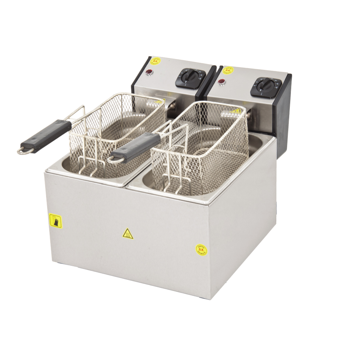 Fritöz Çift - 3+3lt - Elektrikli