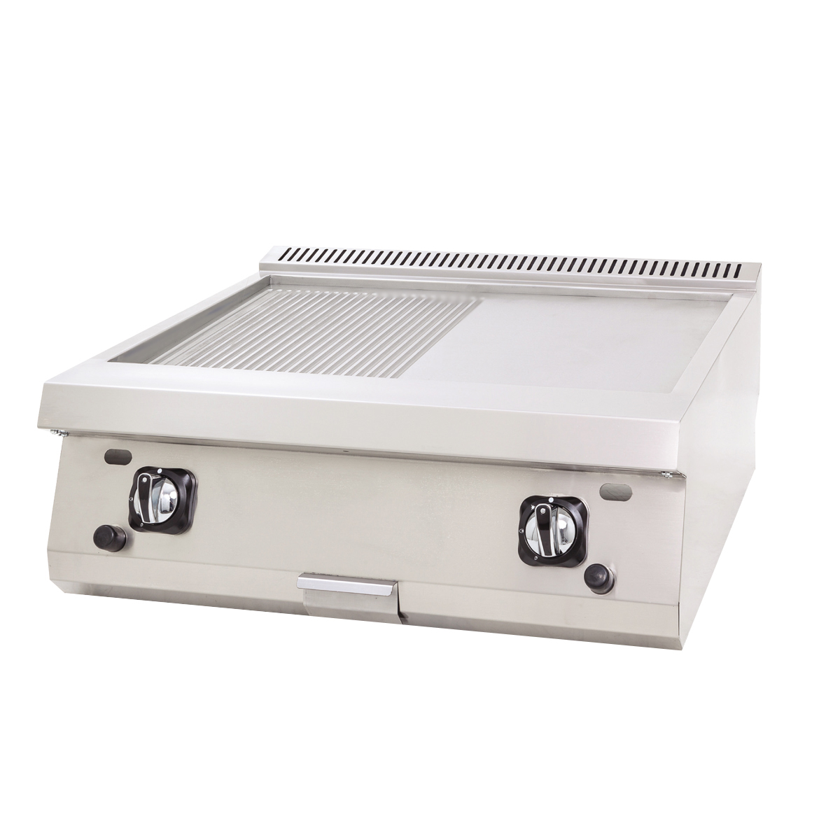 Gas Grill Flat+Grooved - 80x60