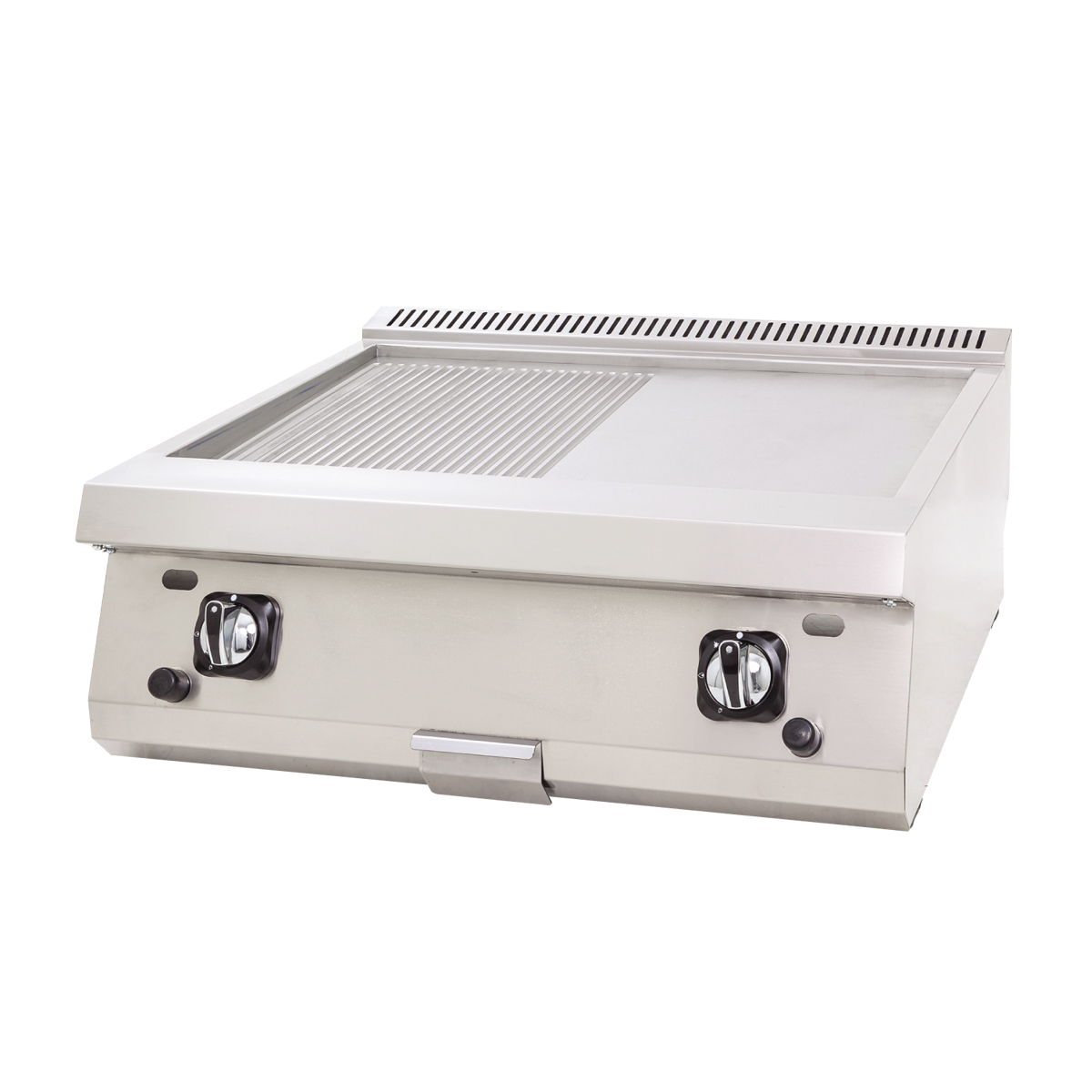 Gas Grill Flat+Grooved - 80x70