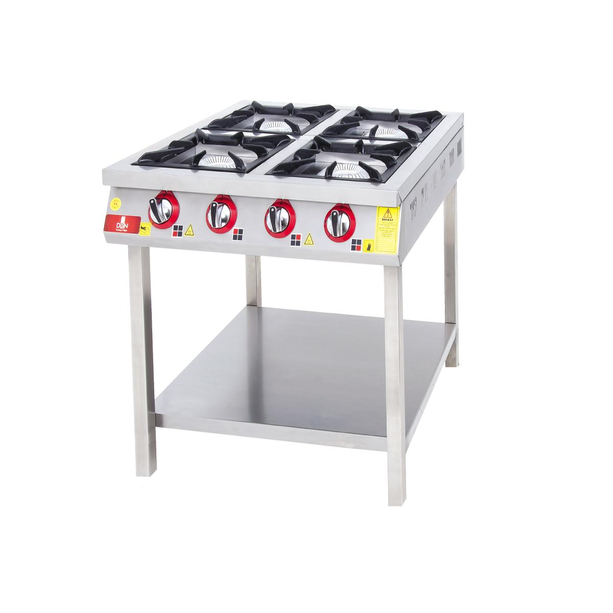 Range With Bottom Shelf 4 Burners - 80x90 - Gas