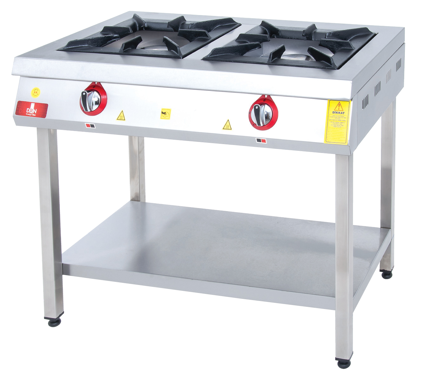 Range and Bottom-Shelf - 2 Burners - 100x60 - Gas