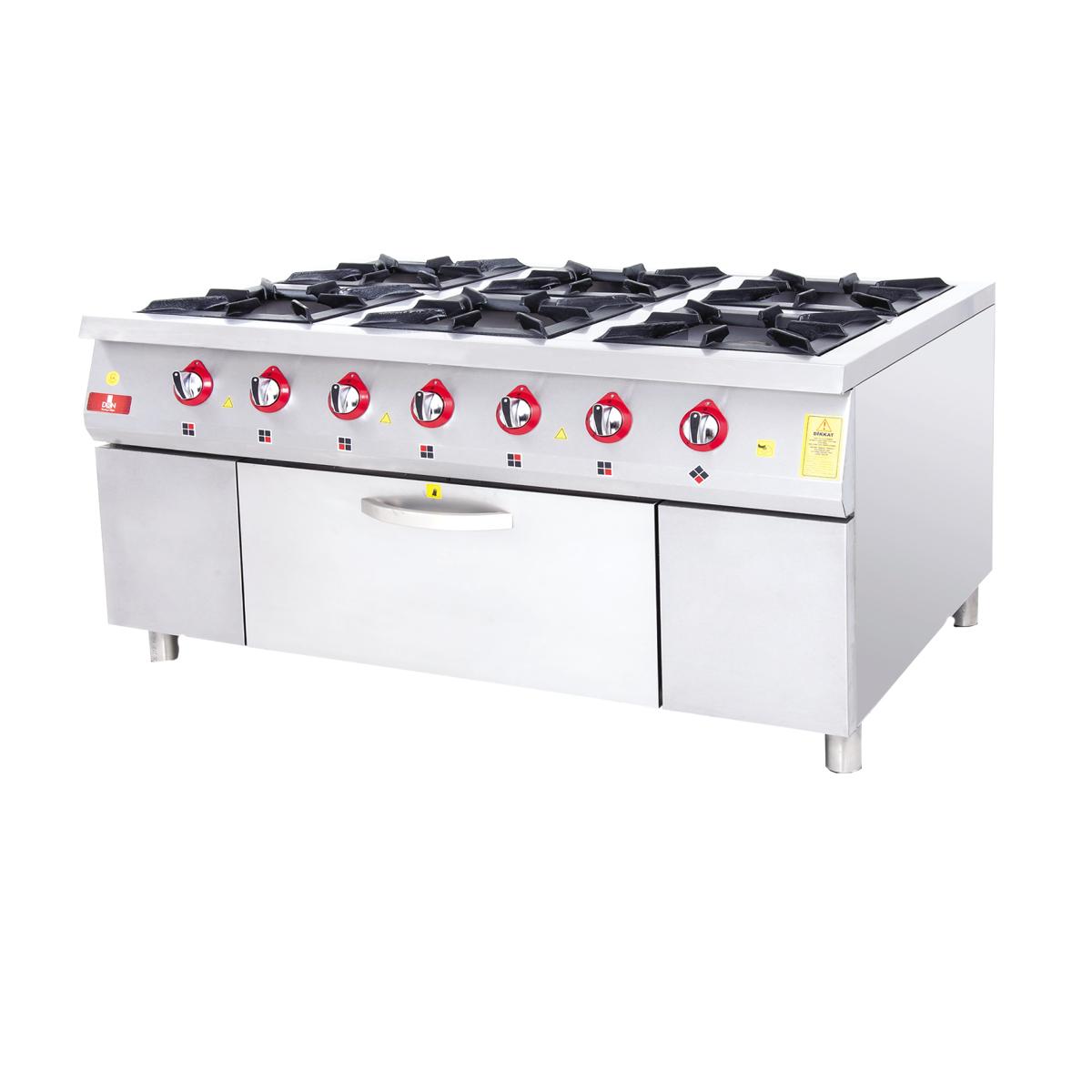 Range With Oven - 6 Burners - 120x90 - Gas