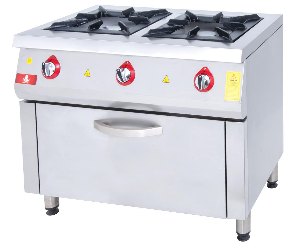 Range and Oven - 2 Burners - 100x60 - Gas