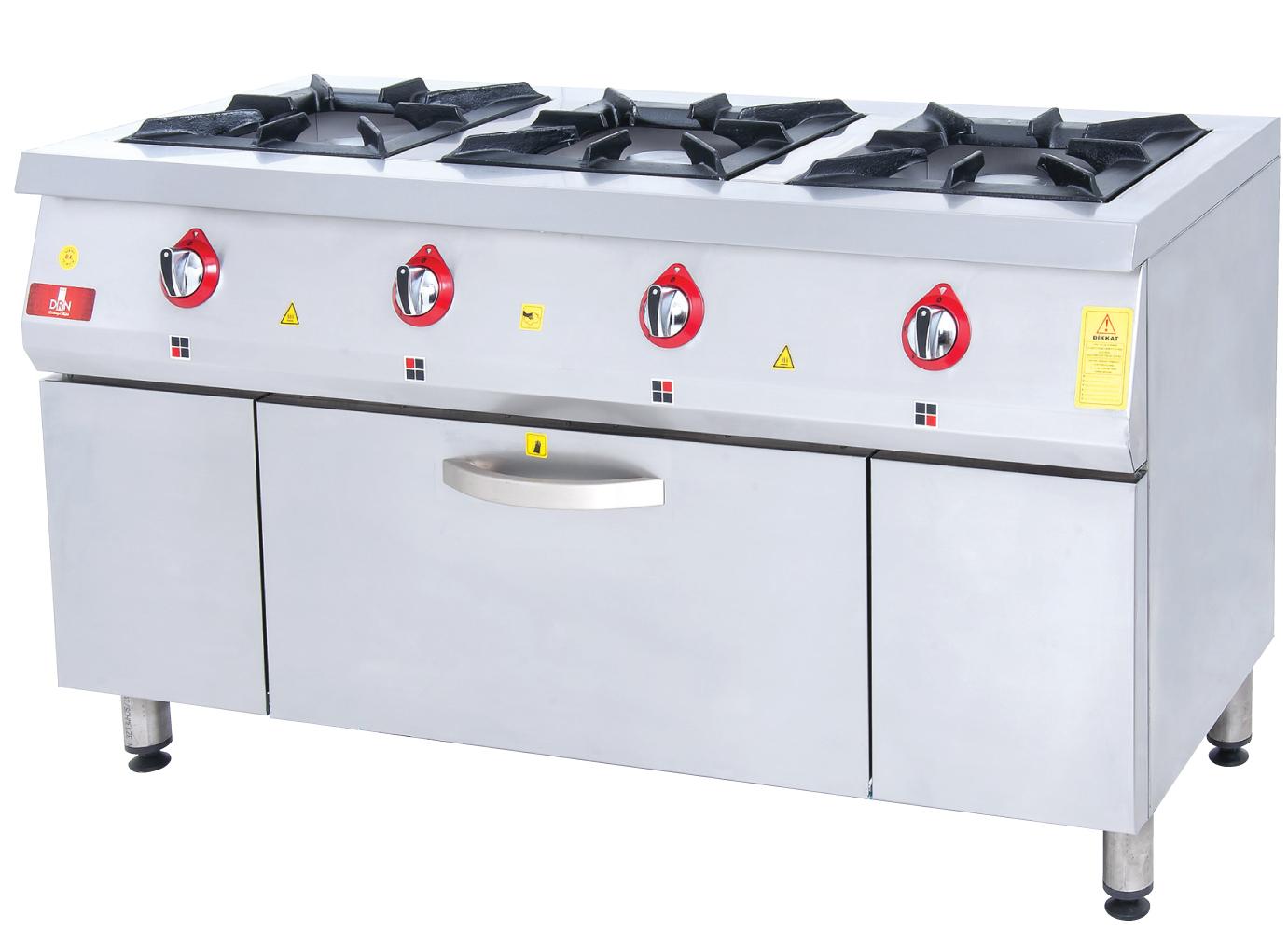 Range and Oven - 3 Burners - 150x60 - Gas
