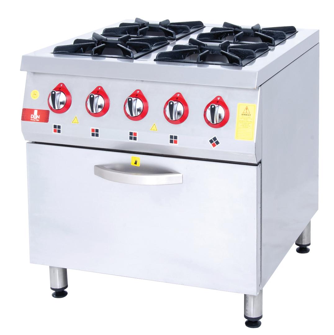Range and Oven - 4 Burners - 80x80 - Gas