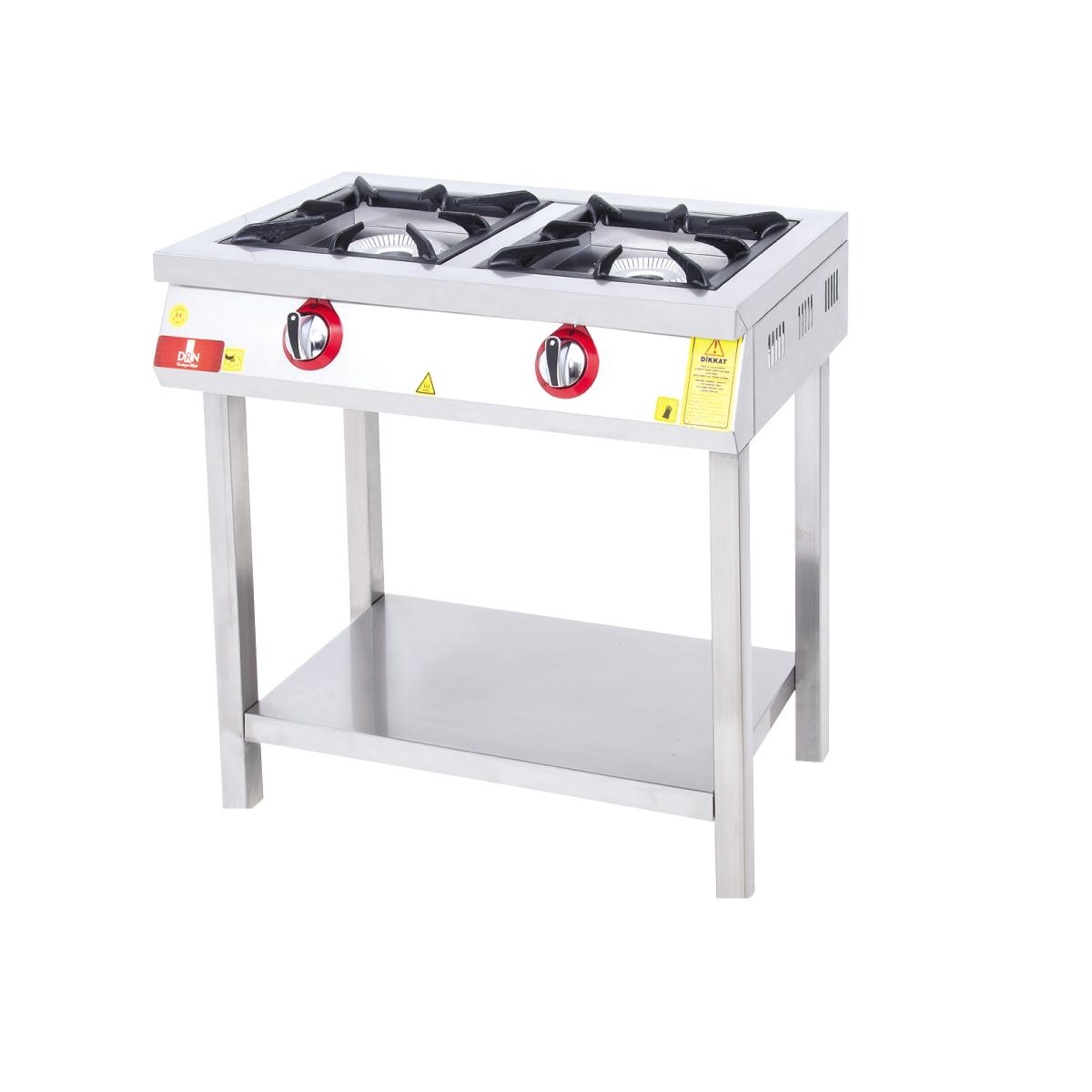 Range and Bottom-Shelf - 2 Burners - 80x45 - Gas