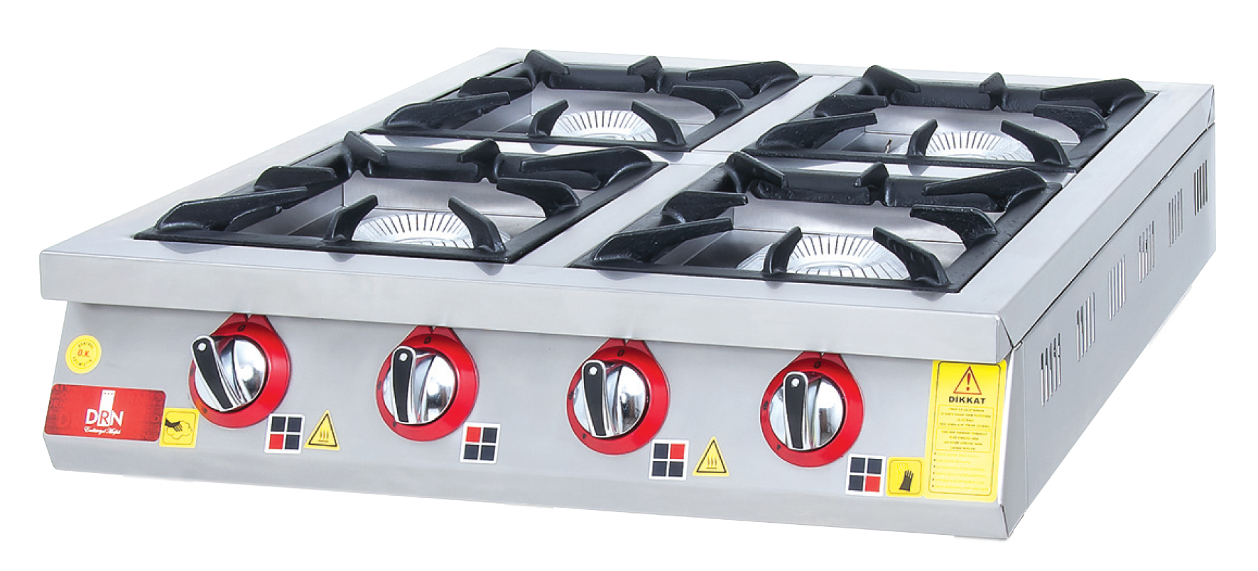 Cooktop - 4 Burners - 80x80 - Gas