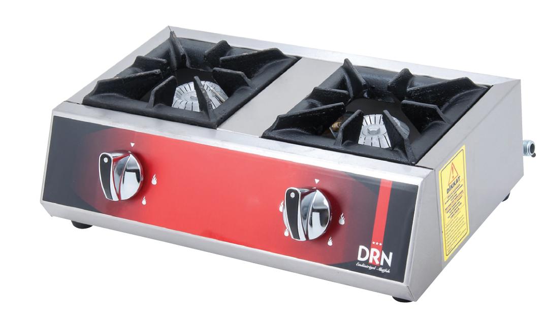 Mini Cooktop - 2 Burners - 50x25 - Gas