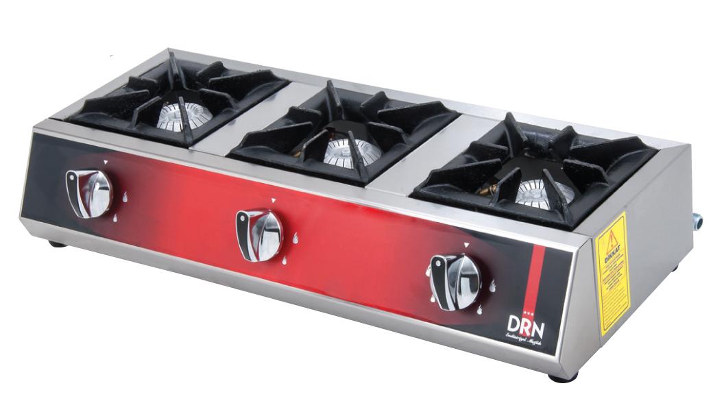 Mini Cooktop - 3 Burners - 75x25 - Gas