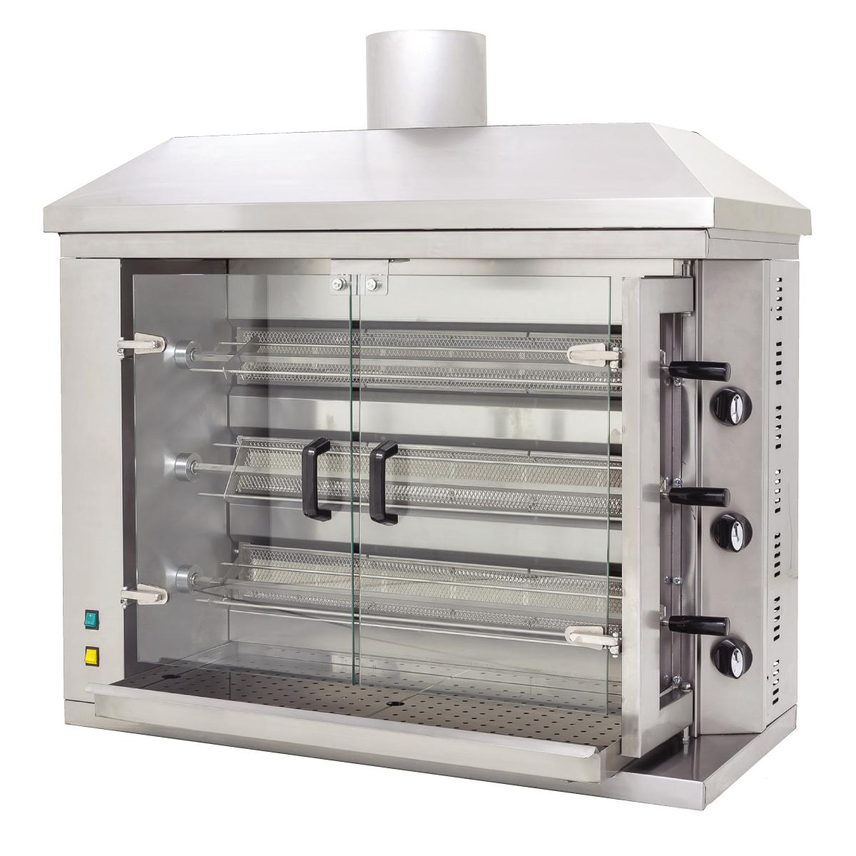 Piliç Çevirme Makinası - 3 'lü -Gazlı